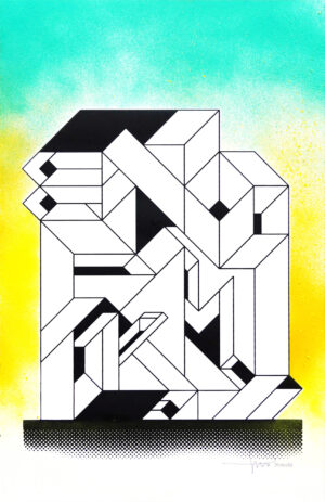 eno silkscreen printing graffiti letters
